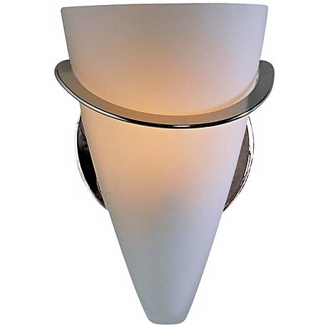 "Holtkoetter Polished Nickel 7"" High Cone Wall Sconce"
