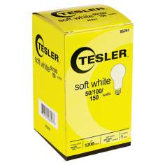 Tesler 50 100 150 Soft White Light Bulb