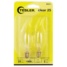 Tesler 25 Watt 2-Pack Blunt Tip Candelabra Light Bulbs