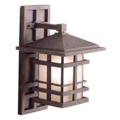 "Kichler Aged Bronze 16"" High Outdoor Wall Light"
