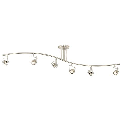 "Pro Track® European Style 70 3/4"" Wide 6-Light Wave Bar"