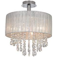 Jolie Silver and Crystal Ceiling Light by Possini Euro