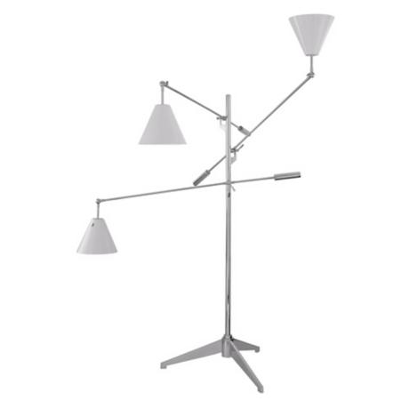 Sonneman Treluci White Floor Lamp