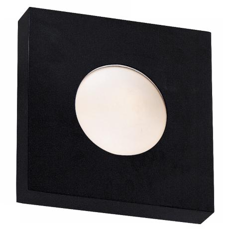 "Burst Black Square  8"" Wide Outdoor Wall or Ceiling Light"