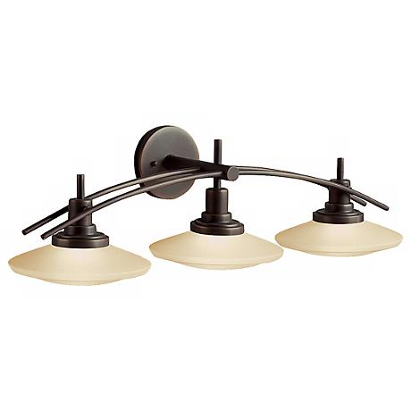 "Structures Bronze 30"" Wide Bathroom Light Fixture"