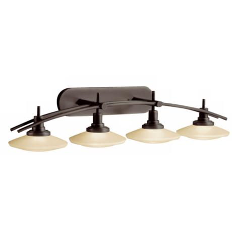 "Structures Bronze 40"" Wide Bathroom Light Fixture"