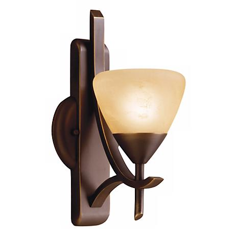 "Olympia Bronze 12"" High Wall Sconce"