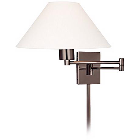 George Kovacs Boring Chocolate Plug-In Swing Arm Wall Light