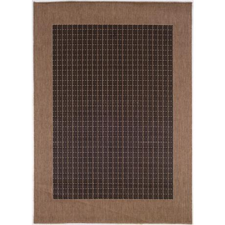 Checkered Field Black-Cocoa Outdoor Rug
