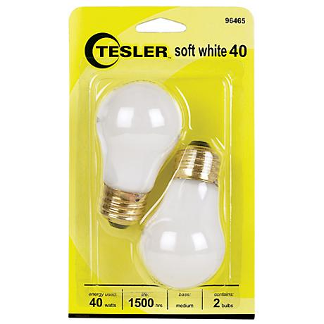 Tesler 40 Watt 2-Pack Soft White Ceiling Fan Light Bulbs