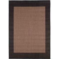 Checkered Field Cocoa-Black Outdoor Rug