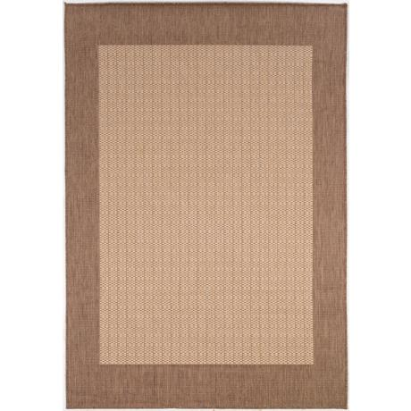 Checkered Field Natural-Cocoa Outdoor Rug