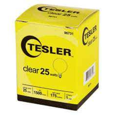 Tesler 25 Watt G12 1/2 Clear Candelabra Light Bulb