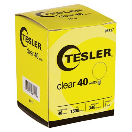 Tesler 40 Watt G12 1/2 Clear Candelabra Light Bulb