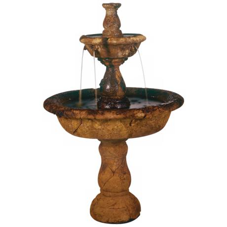 Henri Studio Small Tazza Tier Garden Fountain