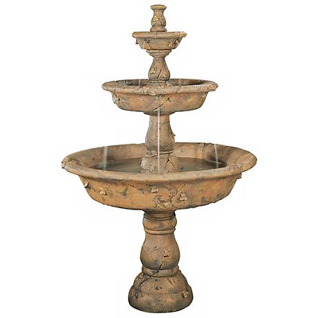 Henri Studio Triple Tazza Tier Garden Fountain