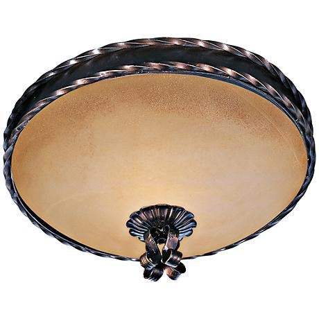 "Maxim Aspen 13"" Wide Oil Rubbed Bronze Ceiling Light"