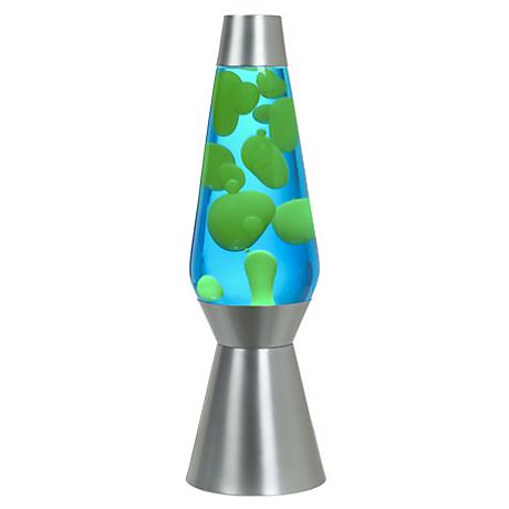 "Grande 27"" HIgh Yellow and Blue Official Lava® Lamp"
