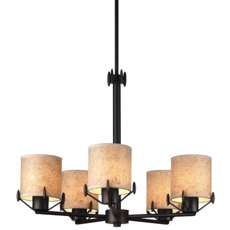 Forecast Five Light Bronze Luster Chandelier