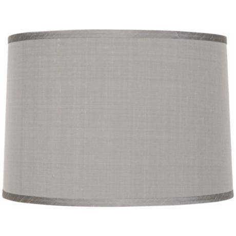 Platinum Gray Dupioni Lamp Shade 15x16x11x11 (Spider)