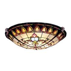 "Artichoke Leaf 19"" Wide Tiffany Ceiling Light"