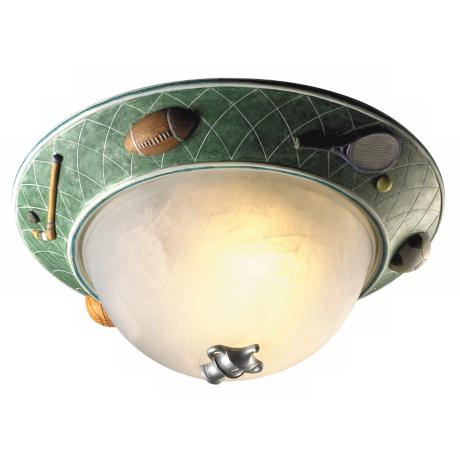 "Glow-in-the-Dark Sports 14"" Wide Ceiling Light Fixture"