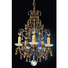 Schonbek Genesis Five Light Crystal Chandelier