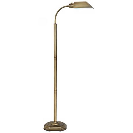 Ott lite alexander brass energy saving gooseneck floor lamp Ott light bulb