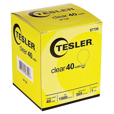 Tesler 40 Watt G25 Clear Glass Light Bulb