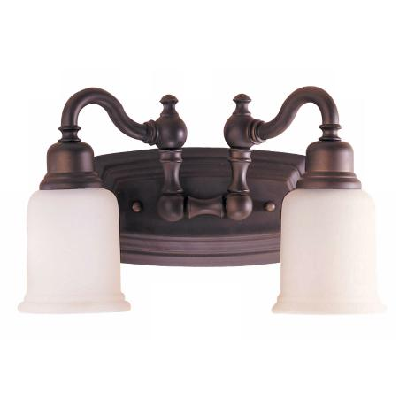 Elegant  Bronze Finish Frosted Glass Vanity Light Fixture 4 Light Oil Rubbed