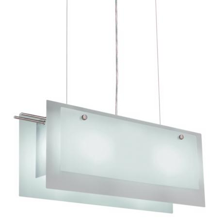 Sonneman Rectangular Glass Pendant Chandelier