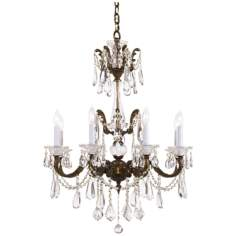 James R. Moder  Redding Eight Light Crystal Chandelier