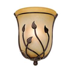 Leaf and Vine Pocket ADA Compliant Pocket Wall Sconce