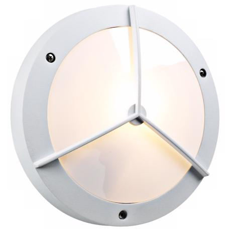 "PLC White 14"" Wide Round Ceiling or Wall Outdoor Light"