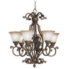 "Larissa Collection 29"" Wide 6-Light Chandelier"