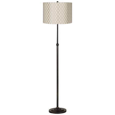 Embroidered Hourglass Bronze Adjustable Floor Lamp