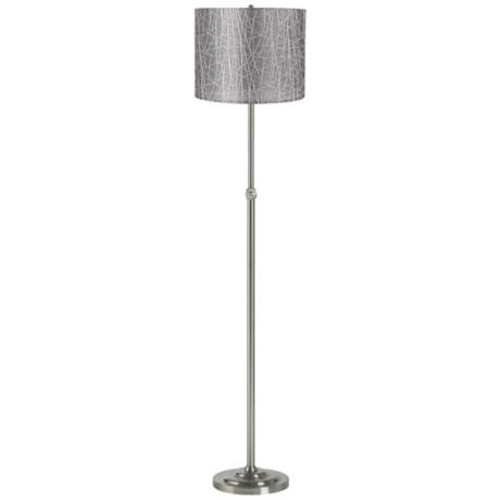 Silver Lines Brushed Steel Adjustable Floor Lamp