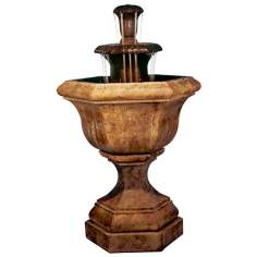 Henri Studio Kensington Cast Stone Cascade Fountain
