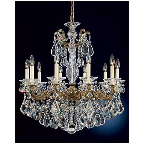 Schonbek La Scala Parchment Bronze and Crystal Chandelier