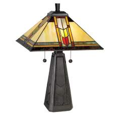 Dale Tiffany Arrow Mission Style Accent Table Lamp