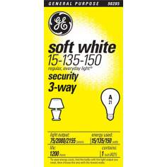 GE 3-Way 15-135-150 Watt Security Light Bulb