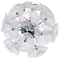 Cassini Collection Murano Glass 3-Light Xenon Wall Sconce