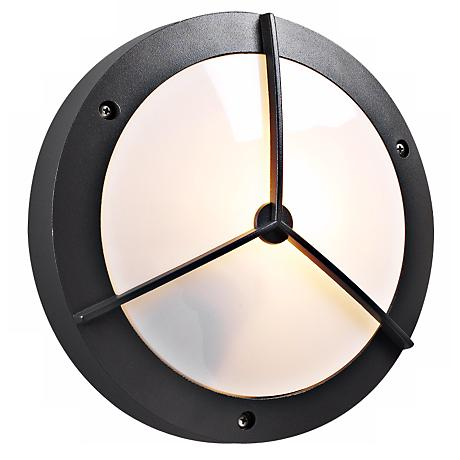 "PLC Bronze 14"" Wide Round Ceiling or Wall Outdoor Light"