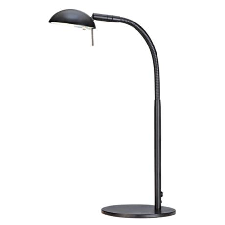 Black Gooseneck Halogen Desk Lamp