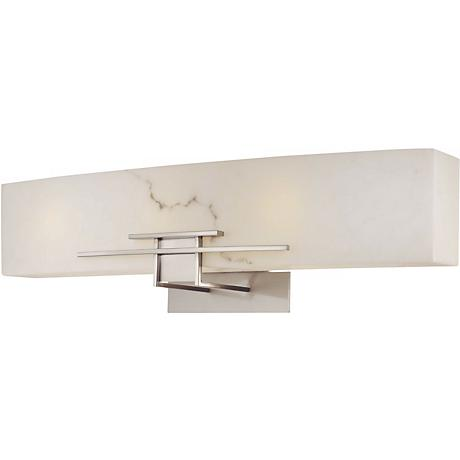 "Alabaster Dust 24"" Wide Bathroom Wall Light"