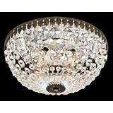 "Schonbek Empire Spectra Crystal 10"" Wide Ceiling Light"