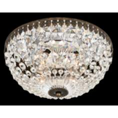 "Empire Spectra Crystal 10"" Wide Ceiling Light Fixture"