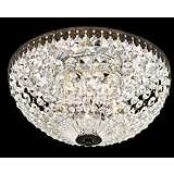 "Schonbek Empire Spectra Crystal 12"" Wide Ceiling Light"