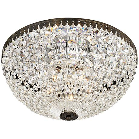 "Schonbek Empire Spectra Crystal 14"" Wide Ceiling Light"