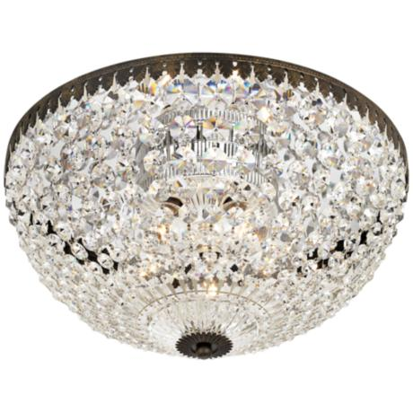 "Empire Spectra Crystal 14"" Wide Ceiling Light Fixture"